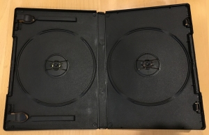 2 disc set DVD case with tabs for printed artwork