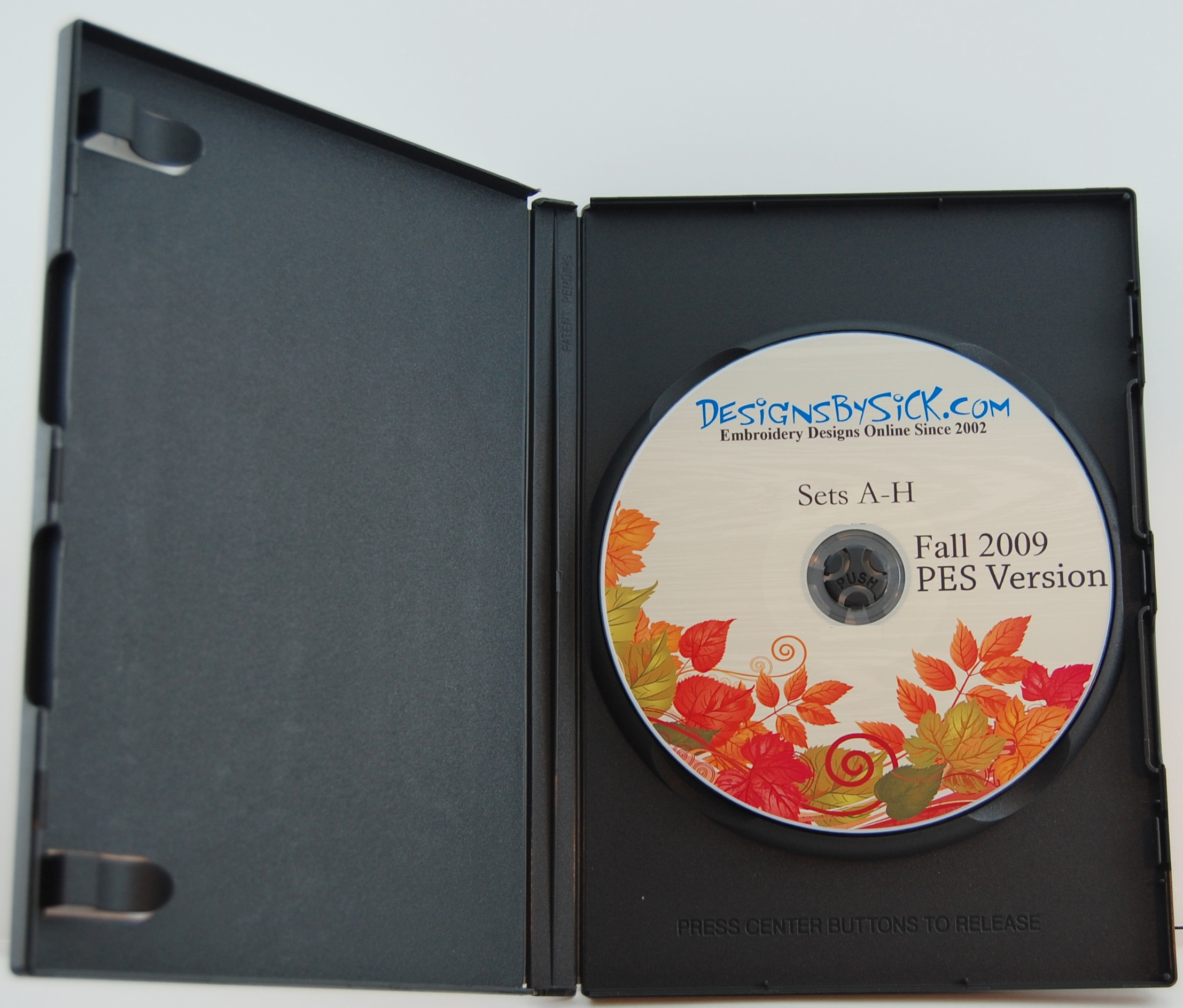Inside DVD case with no insert card